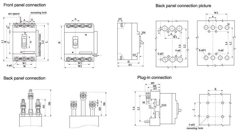 CM1 Installation dimensions