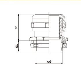 Brass Cable Glands Installation dimensions