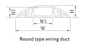 Round type wiring duct installation dimension