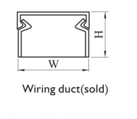 Wiring duct(solid)mounting dimension