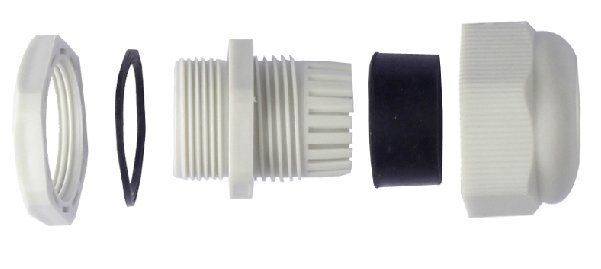 IP68 nylon Cable glands size