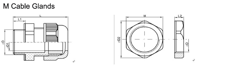 Metric cable glands size